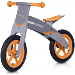 Bicicleta din lemn Biker Orange - Easy Go
