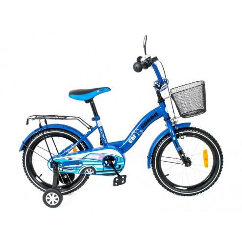 Bicicleta copii MyKids Toma Car Speed Blue 16