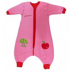 Sac de dormit cu picioruse si maneca lunga detasabila Apple of my eye 3-4 ani 2.5 Tog