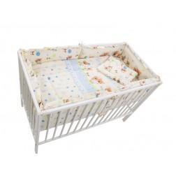 Lenjerie MyKids Baby Teddy Albastru 4+1 Piese 140x70