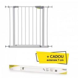 Poarta Siguranta Squeeze Handle White  + CADOU Extensie 7 cm White - 75 - 88 cm