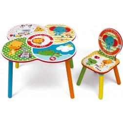 Set masuta multifunctionala si un scaunel It's Giggle Time