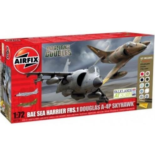 Kit constructie Set Bae  Sea Harrier Douglas Skyhawk
