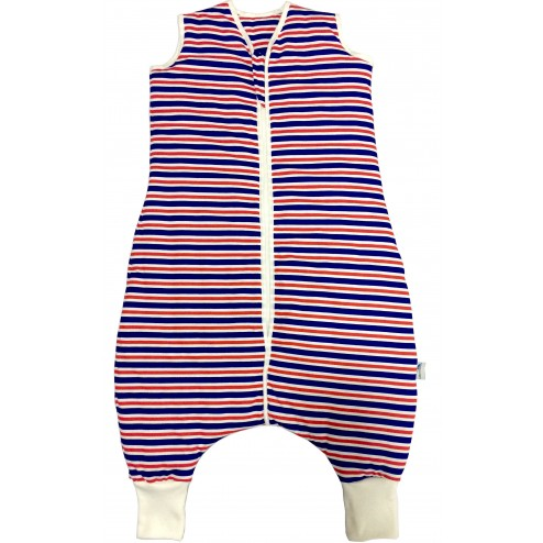 Sac de dormit cu picioruse Navy Red Stripes 18-24 luni 1.0 Tog