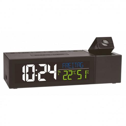 Termometru si higrometru digital cu ecran iluminat si proiectie ceas TFA 60.5014.01