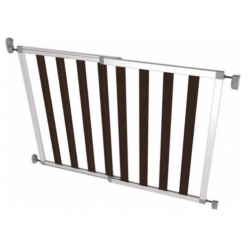 Poarta de siguranta extensibila din aluminiu si lemn Noma IKON NOIR, 62 – 104 cm, N94085