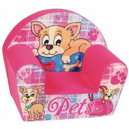 Fotoliu din burete pentru copii Pets Trade