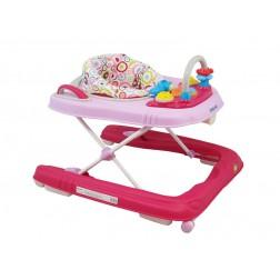 Premergator copii 2 in 1 cu roti din silicon Baby Mix BG-0416 Pink