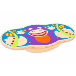 Placa echilibru pentru copii Globo Legnoland 38143 Balance Board Monkey