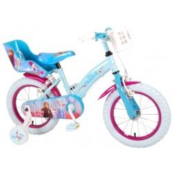 Bicicleta Volare Frozen 2 cu roti ajutatoare 14 inch