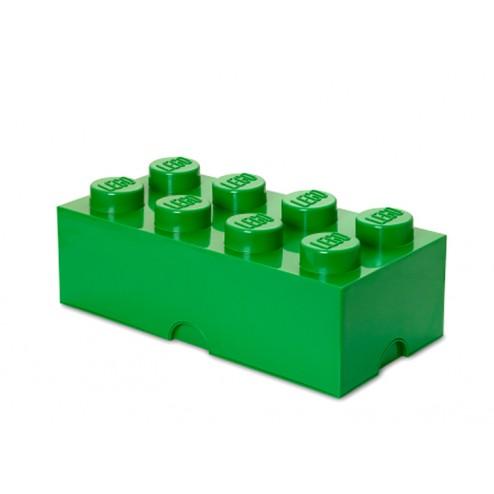 Cutie depozitare LEGO 2x4 verde inchis