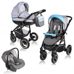 Carucior Crooner 3 in 1 - Vessanti - Blue/Gray