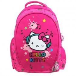 Ghiozdan Clasele I-IV Hello Kitty roz Music Pigna si minge cadou