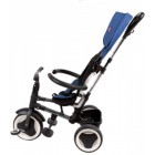 Tricicleta copii Rito Deluxe Albastru cu maner, parasolar si centuri - Volare