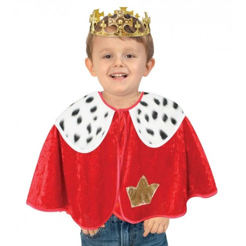 Set pelerina si coroana pentru deghizare Rege 92 cm