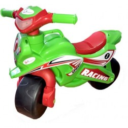Motocicleta de impins MyKids Racing Rosu cu Verde