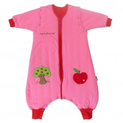 Sac de dormit cu picioruse si maneca lunga detasabila Apple of my eye 12-18 luni 2.5 Tog