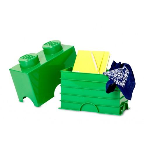LEGO Cutie depozitare 1x2 culoare Verde închis