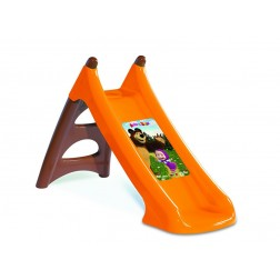 Tobogan copii Smoby XS 820608 Masha and the Bear cu sistem de apa