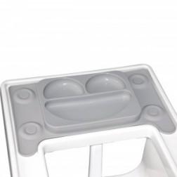 Farfurie autodiversificare portabila EasyMat Perfect fit Ikea EasyTots speciala din cauciuc cu ventuze Gri tip tava