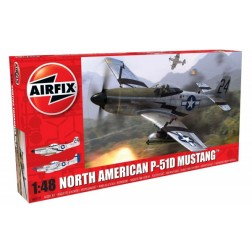 Kit constructie Airfix avion North American P51-D Mustang 1:48