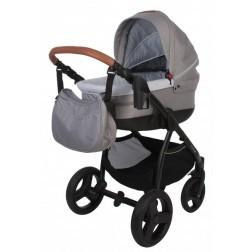 Carucior pentru copii BO Jungle 3 in 1 B-Zen Gri cu geanta, suport pahar, pelerina ploaie si plasa insecte incluse