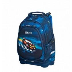 Rucsac scoala primara copii Herlitz Bliss Super Racer ergonomic si Jucarie Spinner Cadou