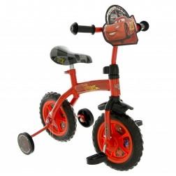 Bicicleta copii Cars 10 inch 2 in 1 cu si fara pedale