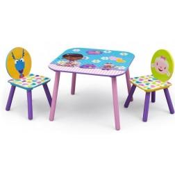 Set masuta si 2 scaunele Disney Doctorita Plusica