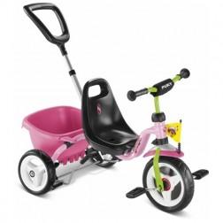 Tricicleta cu maner, roz, Puky