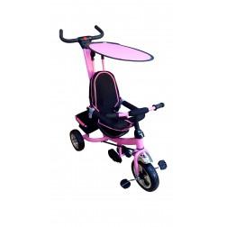 Tricicleta parasolar - roz