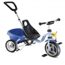 Tricicleta cu maner, bleu, 2+, Puky