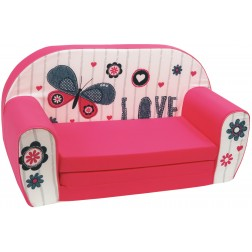 Canapea extensibila din burete pentru copii Butterfly Love Trade