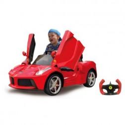 Masinuta electrica copii Ferrari LaFerrari rosie Jamara 6V cu telecomanda control parinti 2.4 Ghz cu 2 viteze