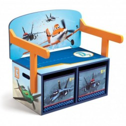 Mobilier 2 in 1 pentru depozitare jucarii Disney Planes