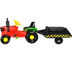 Tractor cu pedale si remorca Turbo red - Super Plastic Toys