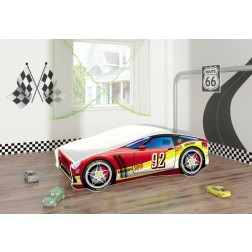 Pat Tineret Race Car 05 Red 140x70 - MyKids