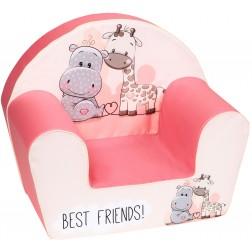 Fotoliu din burete pentru copii Best Friends Trade