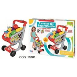 Carucior jucarie pentru supermarket cu accesorii, RS Toys