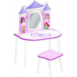 Masuta de frumusete cu scaunel Printesele Disney