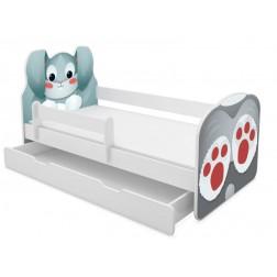 MyKids Patut Tineret cu sertar Animals Rabbit 140x70
