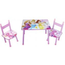 Set masuta si 2 scaunele Disney Princess