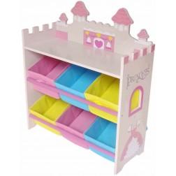 Organizator jucarii cu cadru din lemn Princess Castle