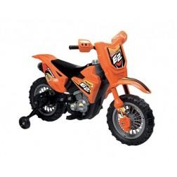 Motocicleta electrica copii Enduro Motocross 6V portocalie telecomanda control parinte - Globo