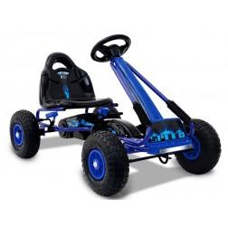 Cart Cu Pedale Copii Moni Racer Albastru