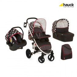 Set Carucior Malibu XL All In One Dots Black