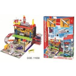 Set jucarie aeroport cu 2 avioane metalice si alte accesorii, RS Toys