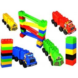 Set de constructie gigant Car Race Super Plastic Toys