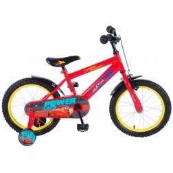 Bicicleta Cars 3 pentru baieti 16 inch cu roti ajutatoare partial montata - Volare