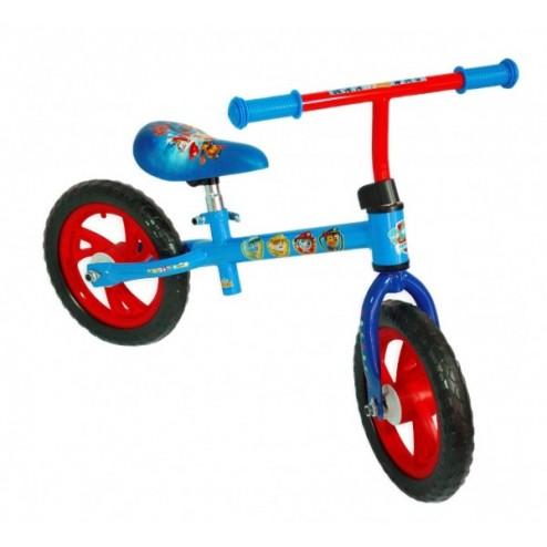 Bicicleta fara pedale Saica Paw Patrol pentru copii roti 12 inch